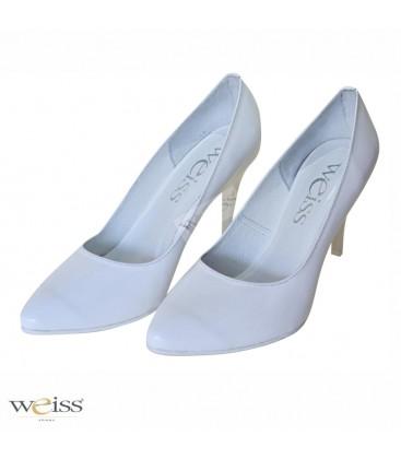 Luxusní bílé svatební lodičky - WLN-806-BI