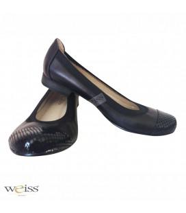 Kožené baleríny - WBR-606-BL