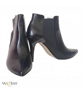 Luxusní kotníkové boty - WK-708-BL