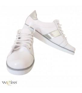 Luxusní kožené tenisky nízké - WTN-971-WS