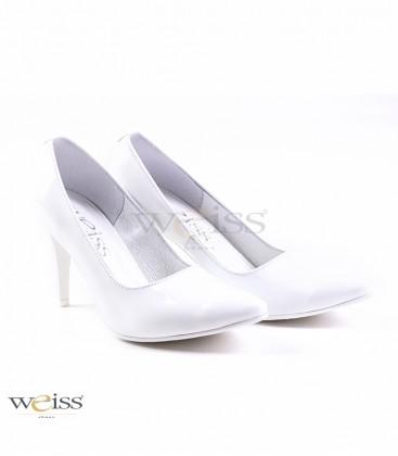 Luxusní bílé svatební lodičky - WL-806-W