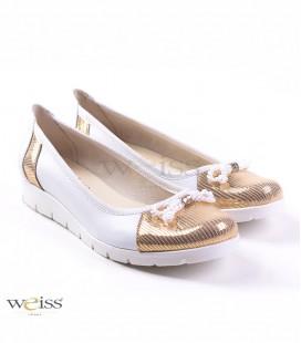 Bílo-zlaté baleríny